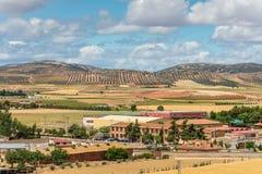 孔苏埃格拉镇,西班牙的周围 免版税库存图片