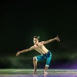 孔雀羽毛现代舞蹈 库存图片