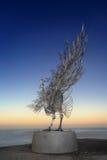 孔雀-由海的雕塑 免版税库存照片