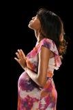 孕妇祈祷 图库摄影