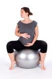 孕妇行使 免版税库存照片