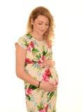 孕妇年轻人 免版税图库摄影