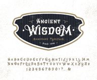 字体古老智慧 库存例证