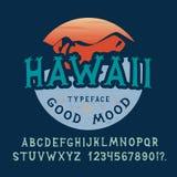 字体夏威夷 被制作的手 免版税库存照片