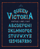 字体女王/王后维多利亚 皇族释放例证
