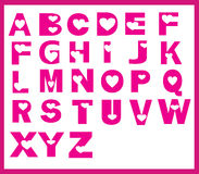 字体心脏设计 免版税库存照片