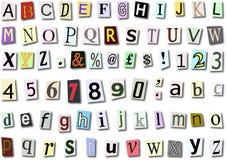 字体纸张 免版税图库摄影