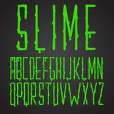 字体绿色软泥手拉高和狭窄 皇族释放例证