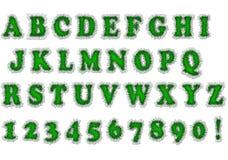 字体绿色 库存图片