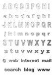 字体金属 免版税图库摄影