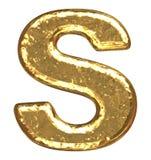 字体金黄字母S 皇族释放例证