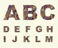 字体类型abc大写 建筑在向量之下的例证股票 库存照片