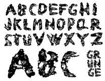 字体grunge向量 免版税库存图片