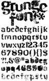 字体grunge 免版税库存照片