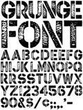字体grunge 库存例证