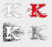 字体K 库存照片
