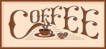字咖啡 免版税库存照片