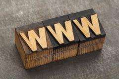 字宽万维网-万维网 免版税库存图片