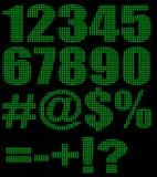 字母数字背景 向量例证