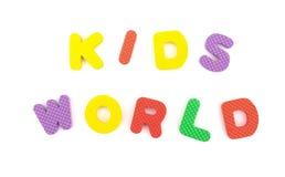 字母表七巧板做的孩子世界信件 免版税库存图片