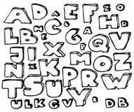 字母表乱画被画的现有量 皇族释放例证