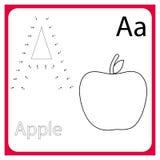 字母表了解 工作表 学会信件 绘画页 也corel凹道例证向量 向量例证