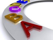 字母表五颜六色的信函 免版税库存图片
