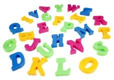 字母表五颜六色的信函 免版税库存照片