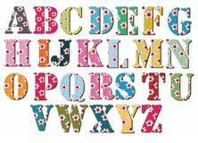字母表五颜六色 库存图片
