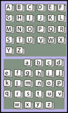 字母表传染媒介例证 库存图片