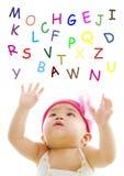 字母表传染性的字 免版税库存图片