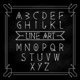 字母表信件传染媒介集合现代葡萄酒 免版税图库摄影