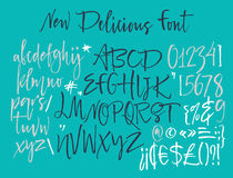 字母表信件:小写,大写,数字 scrapbooking向量的字母表要素 拉长的现有量信函 字母表写与软性 图库摄影