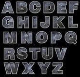 字母表具体grunge钢 图库摄影