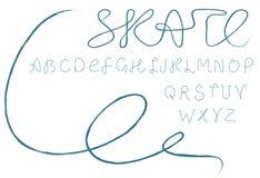 字母表冰鞋 库存图片