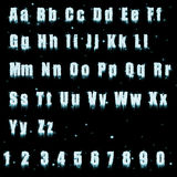 字母表冰 免版税库存图片