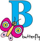 字母表动物b蝴蝶 免版税库存图片