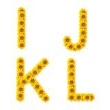 字母表向日葵 库存照片