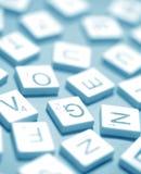 字母表和数字 免版税库存图片