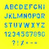 字母表和编号 库存照片