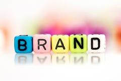 字母表品牌词立方体  免版税库存图片