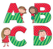 字母表哄骗ABCD 库存图片