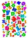 字母表回到背景颜色学校 库存例证