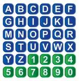 字母表图标 免版税图库摄影