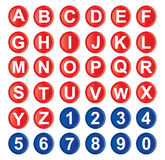 字母表图标 免版税库存照片