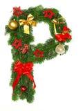 字母表圣诞节信函p 免版税库存照片