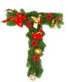 字母表圣诞节信函t 免版税图库摄影
