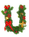 字母表圣诞节信函u 库存照片