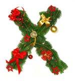 字母表圣诞节信函x 免版税库存图片