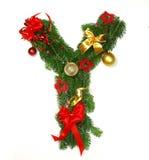字母表圣诞节信函y 库存照片